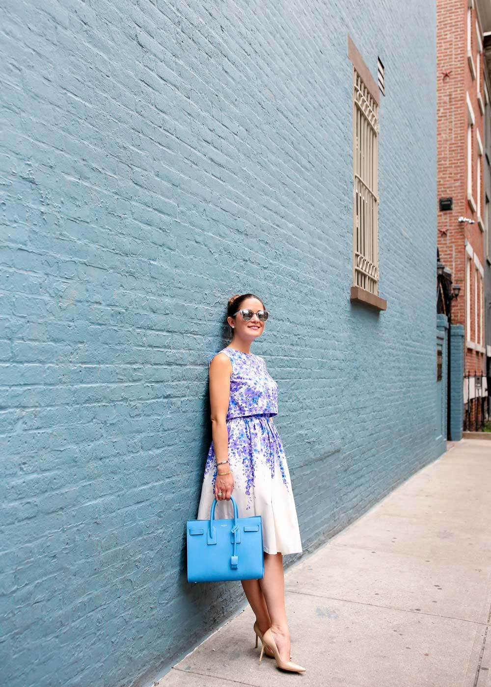 New York West Village Blue Wall