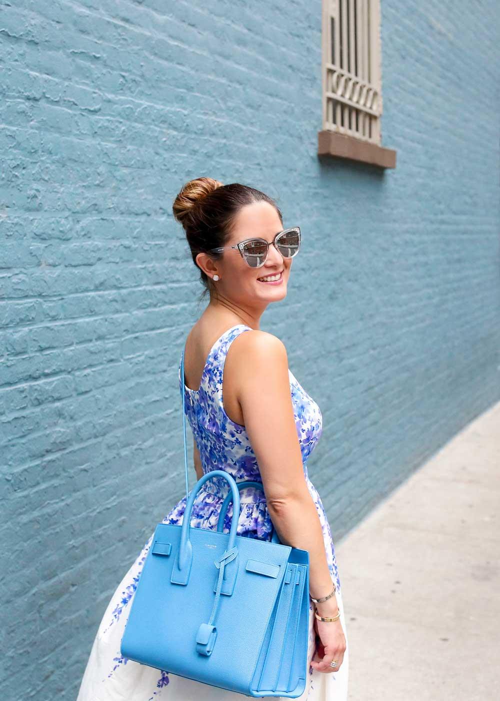 Blue Saint Laurent Sac de Jour Bag
