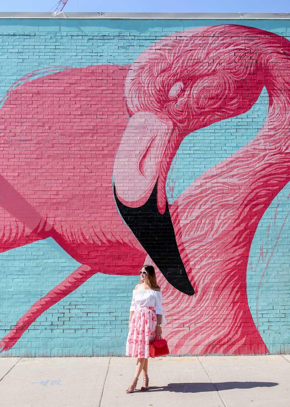 Chicago Flamingo Mural