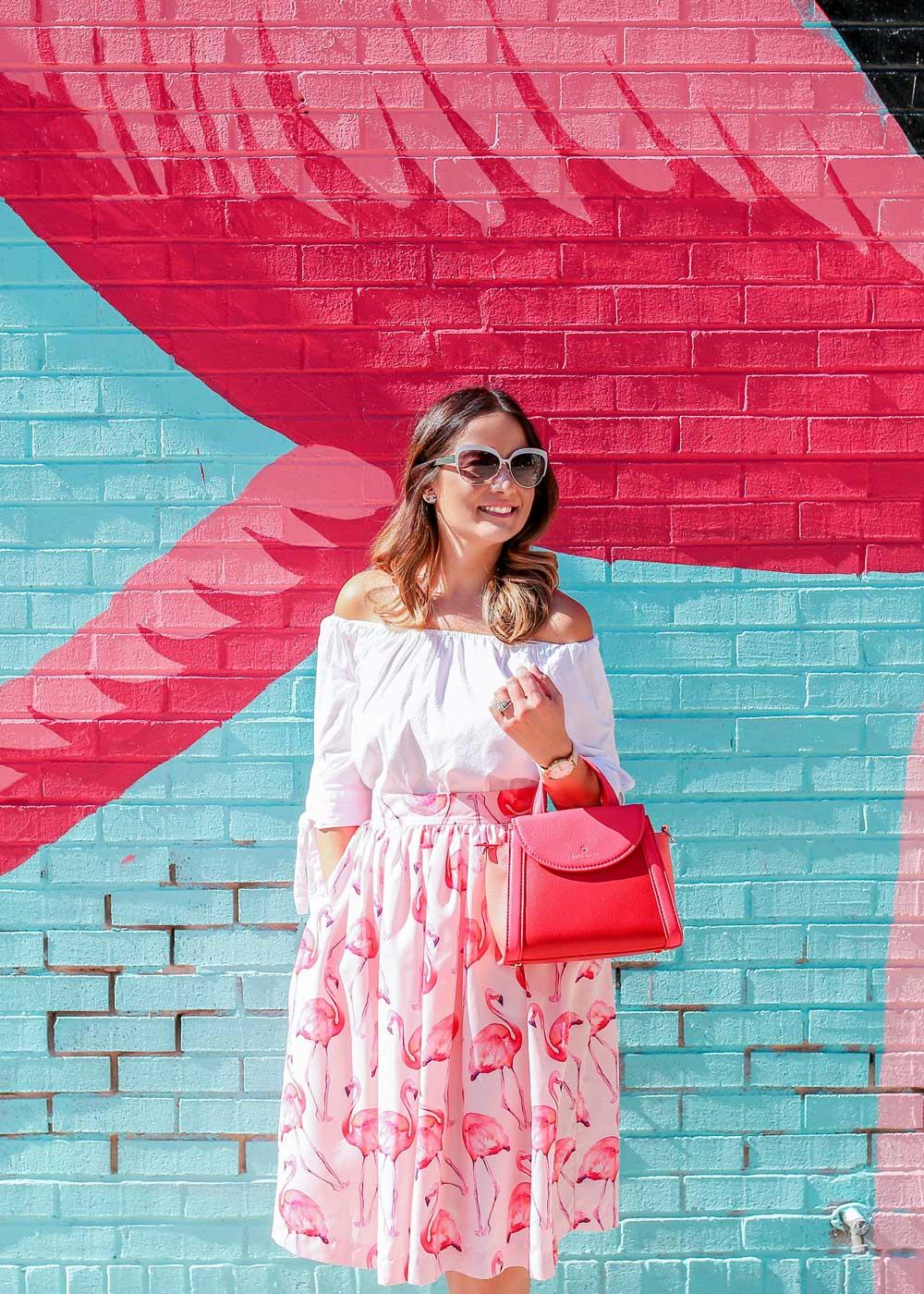 Flamingo Midi Skirt
