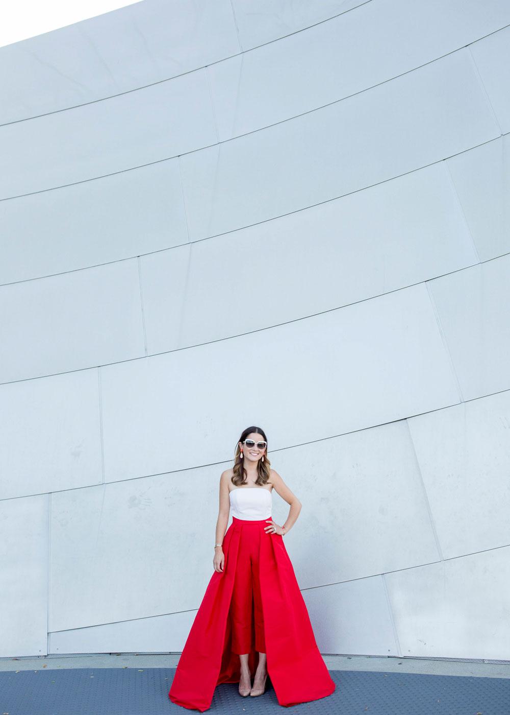 Detachable Red Silk Skirt