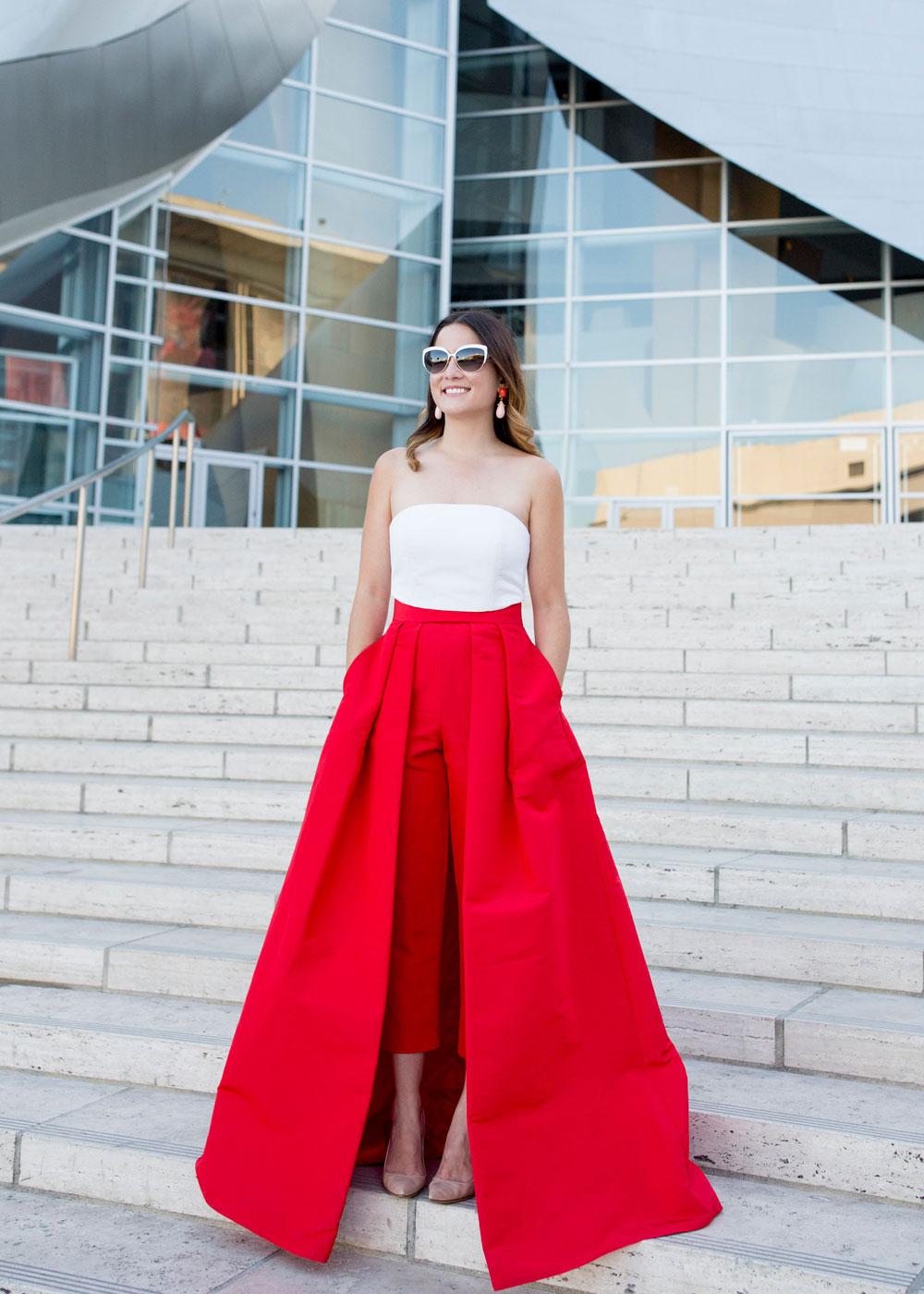 Alexia Maria Silk Faille Convertable Skirt