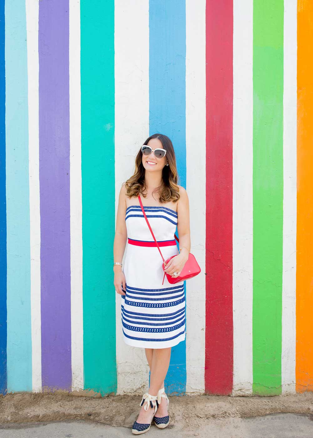 Chicago Striped Mural
