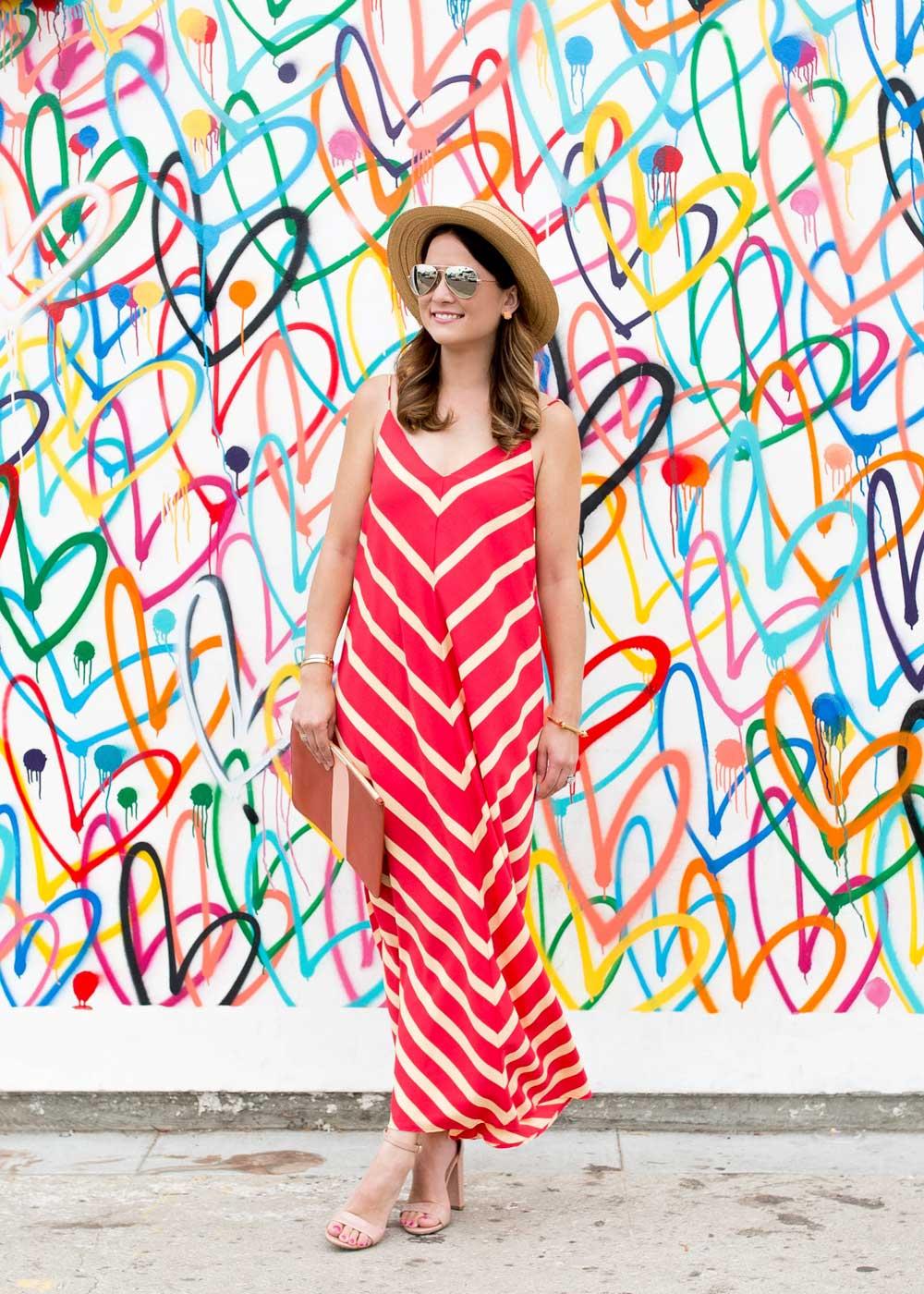 Red Stripe Maxi Dress