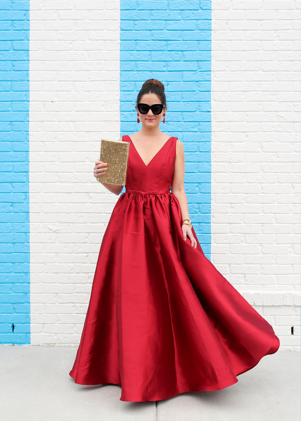 Monique Lhullier Red Gown
