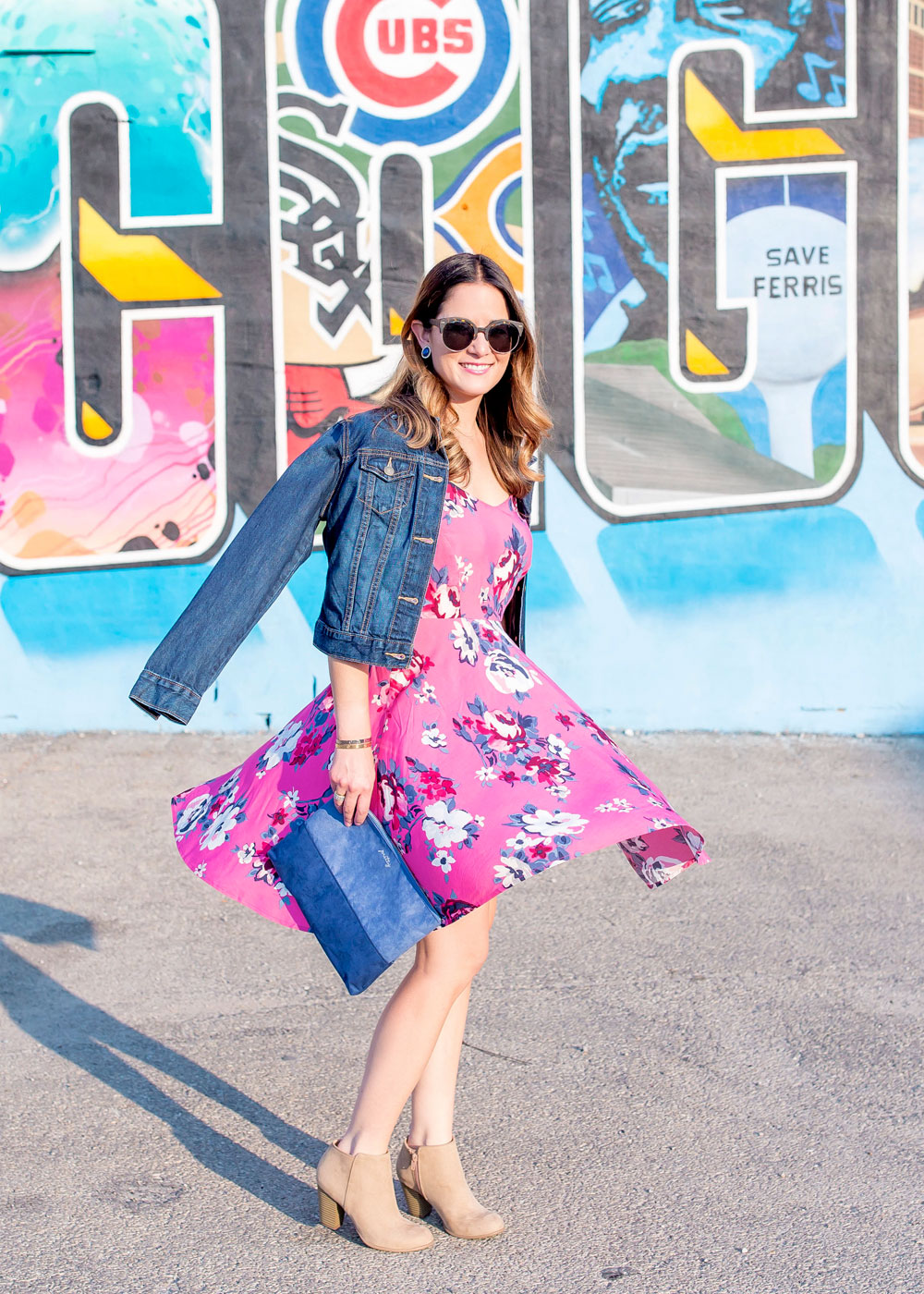 Old Navy Pink Floral Dress