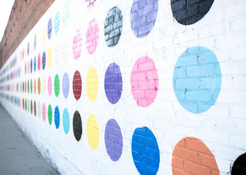 Los Angeles Polka Dot Wall