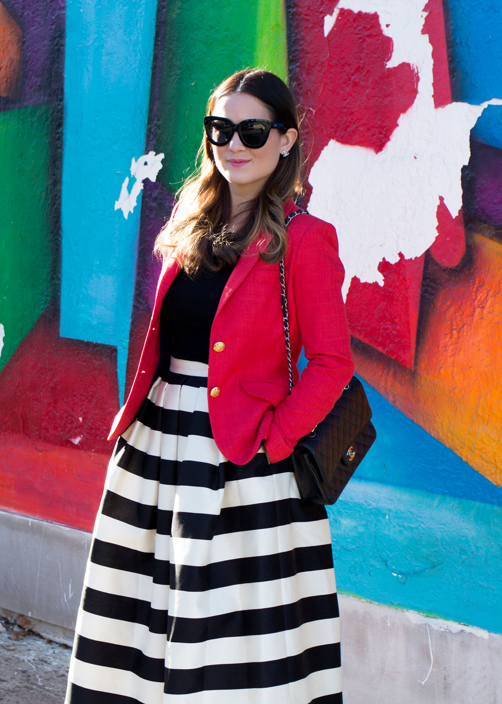 Preppy Red Blazer