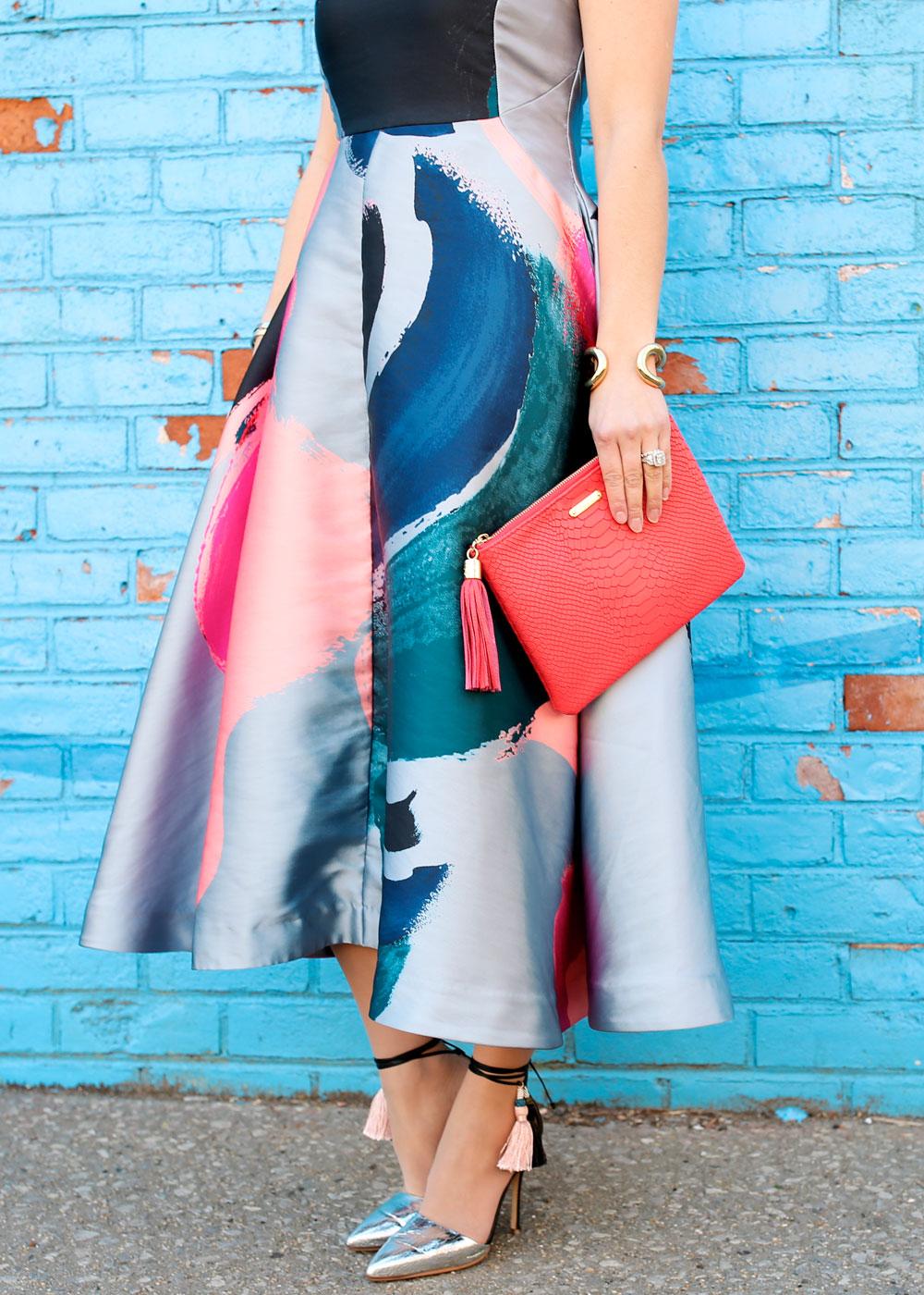 Multicolor Midi Dress