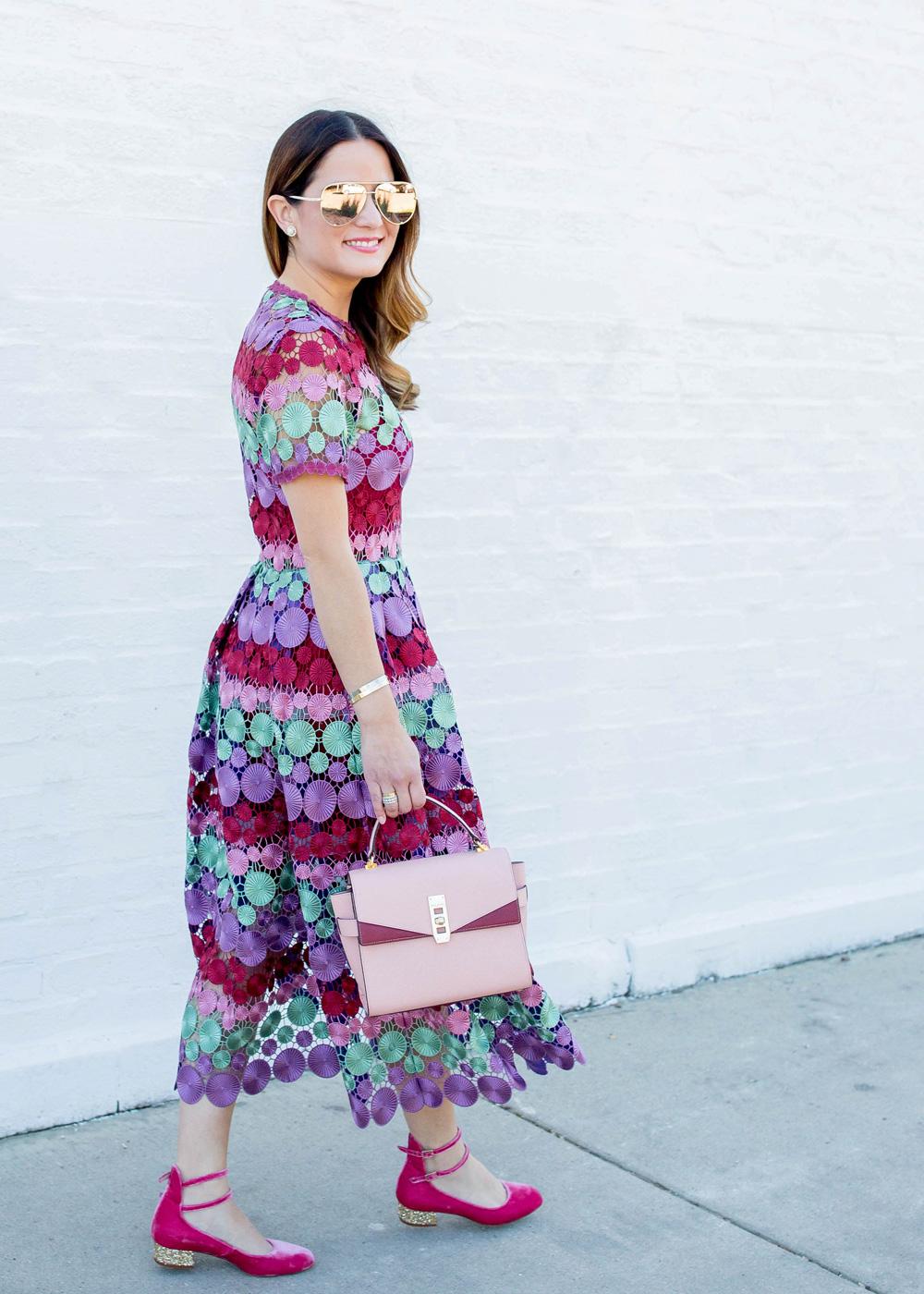 Alexis Multicolor Lace Dress