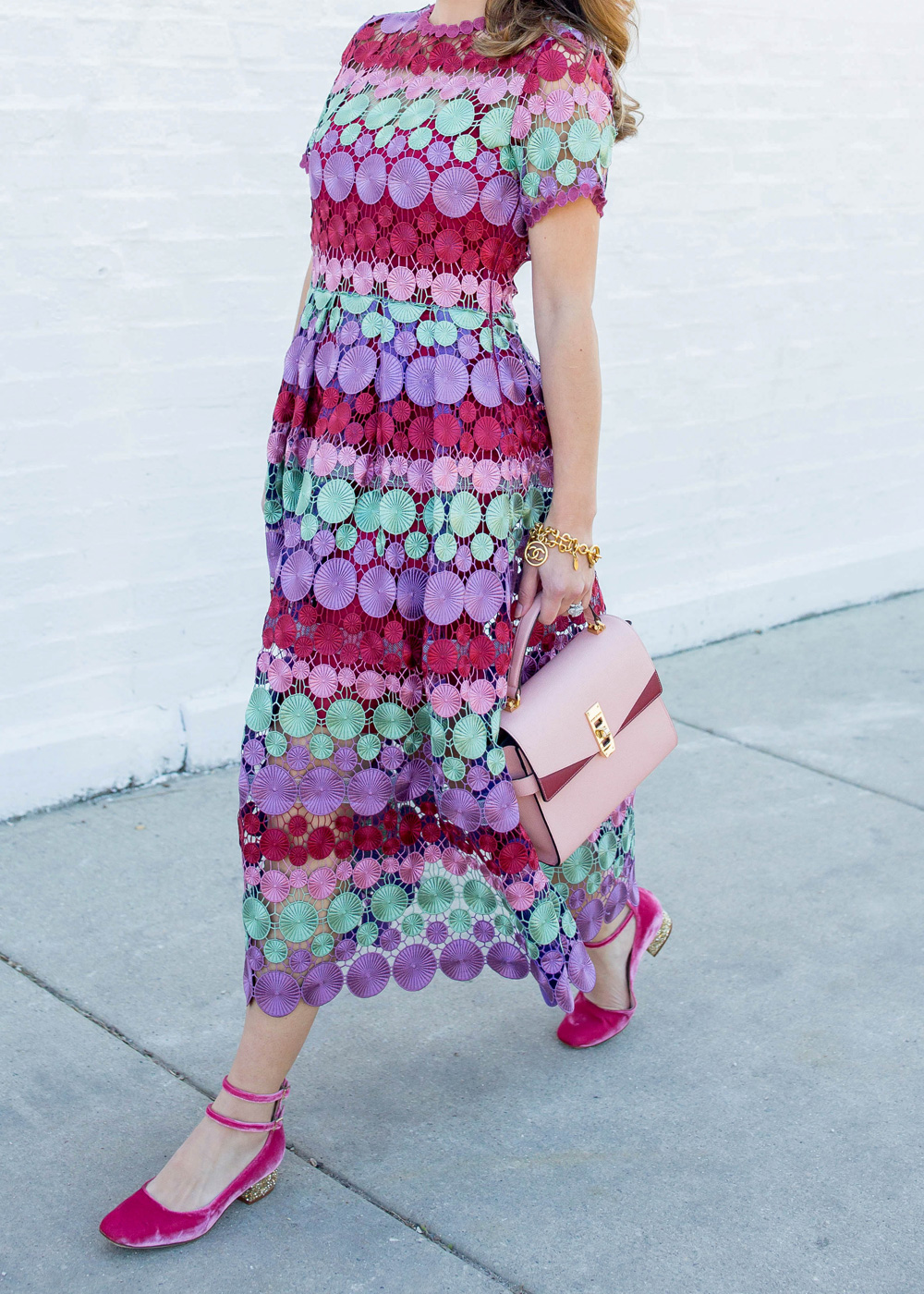 Multicolor Lace Dress