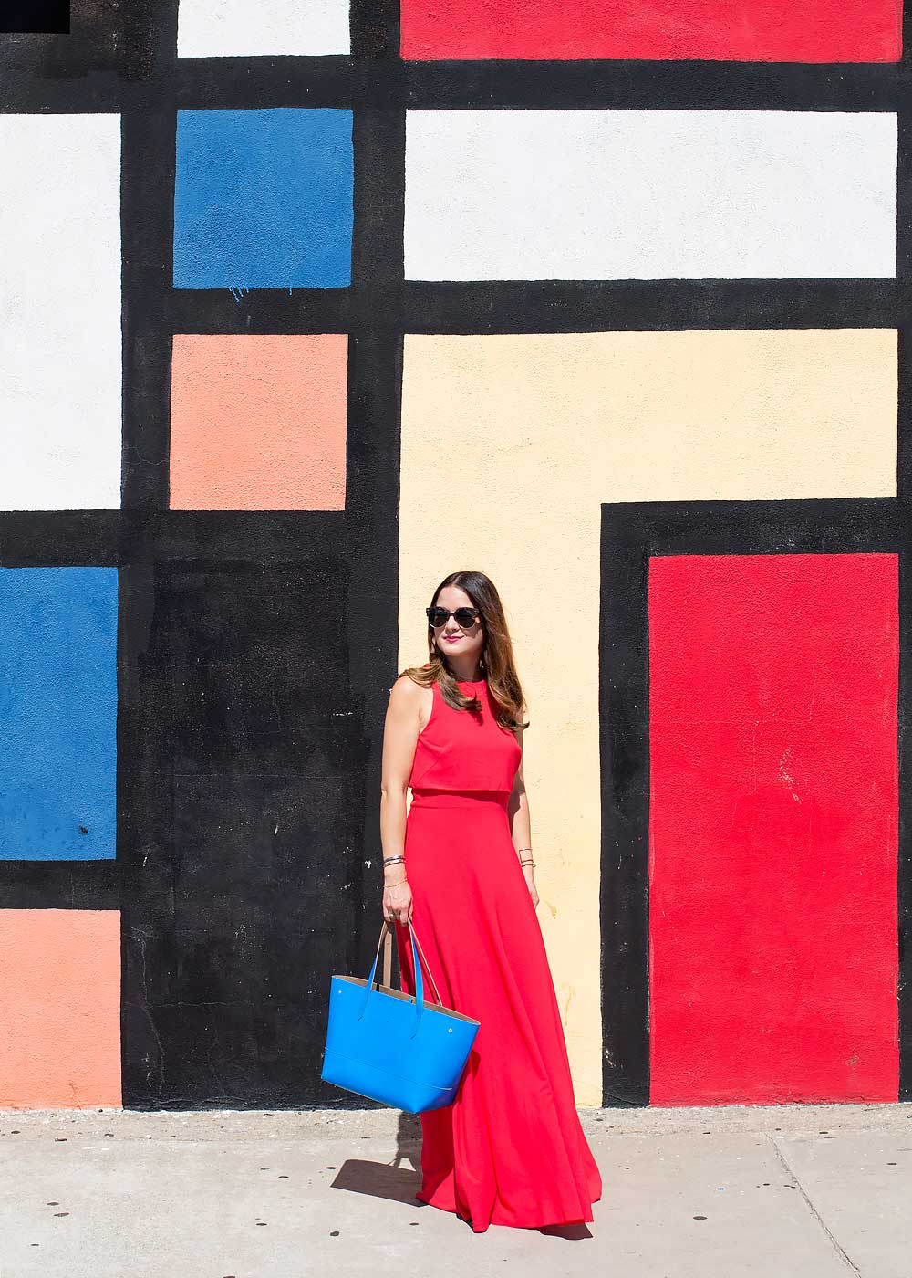 Los Angeles Mondrian Mural Wall