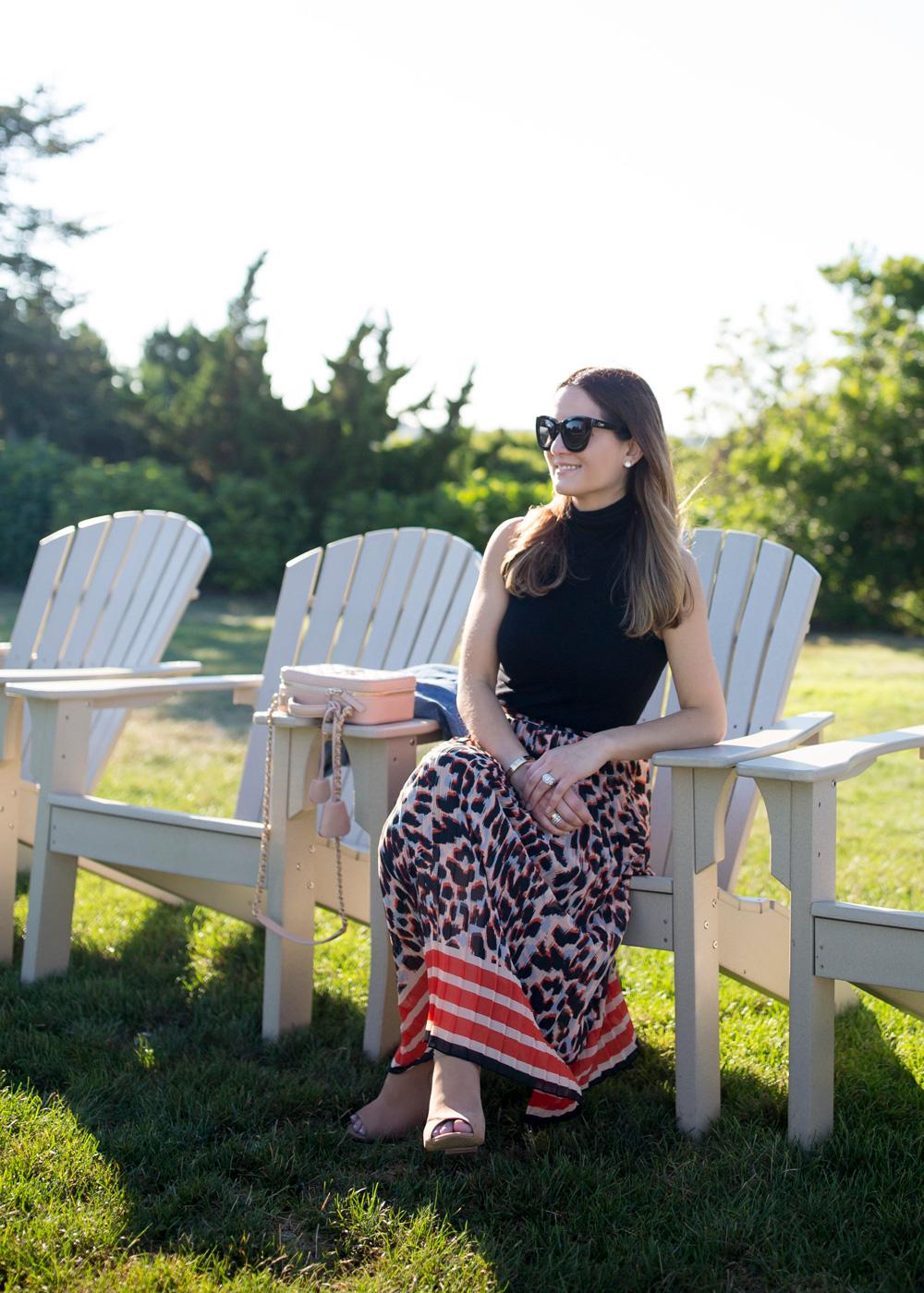 ASOS Pleated Leopard Skirt