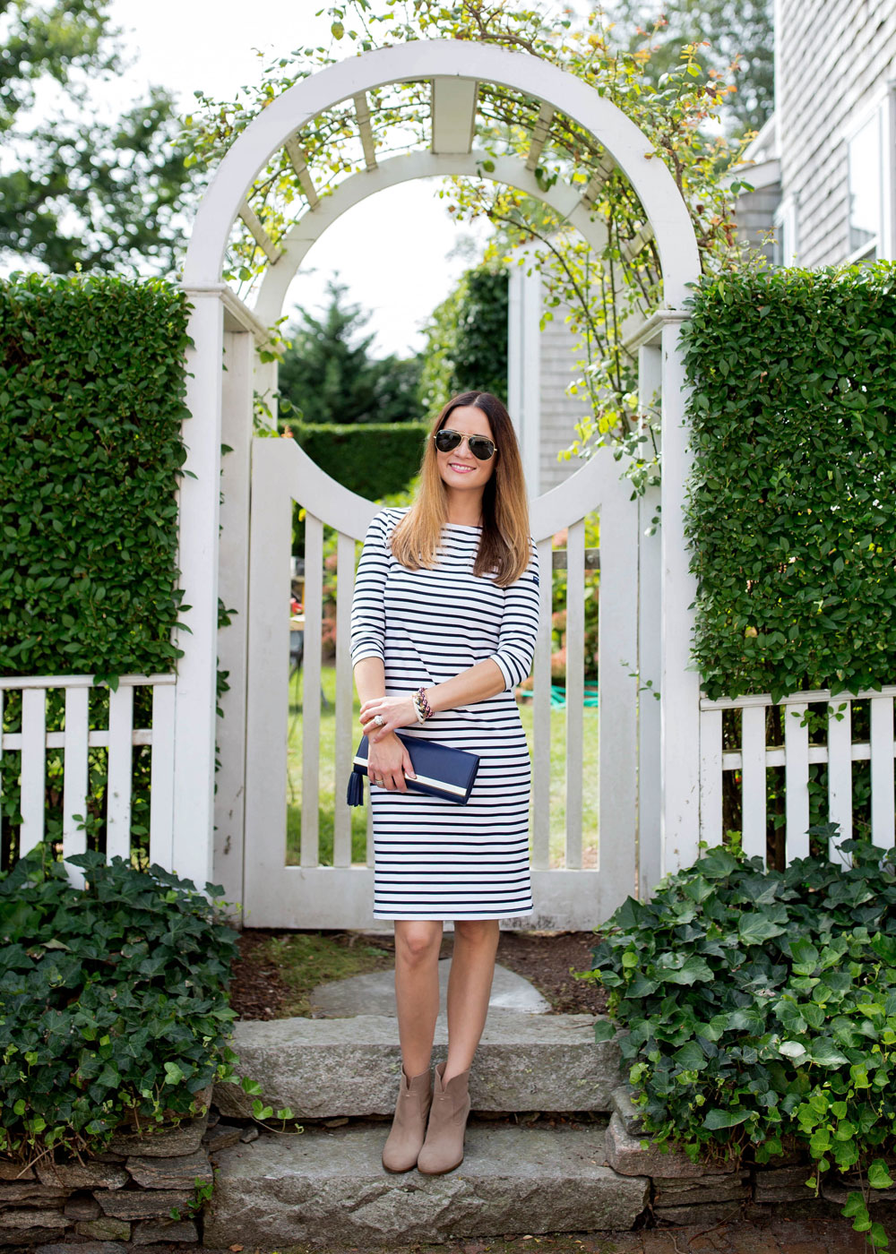 Saint James Navy Stripe Dress