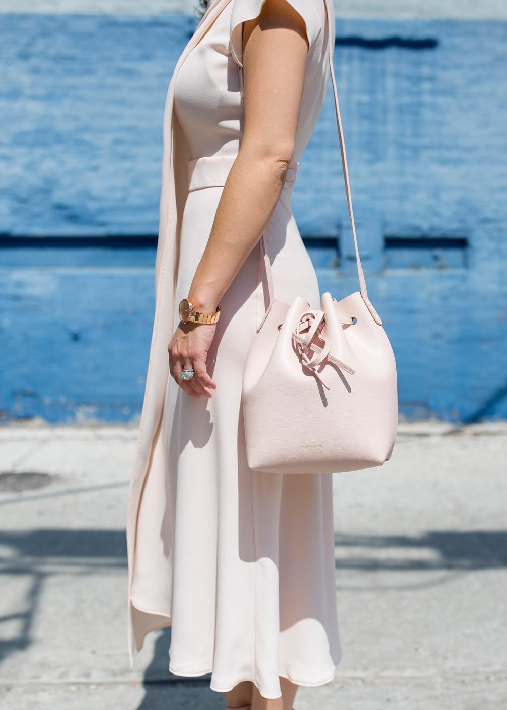Mansur Gavriel Pink Mini Bucket Bag