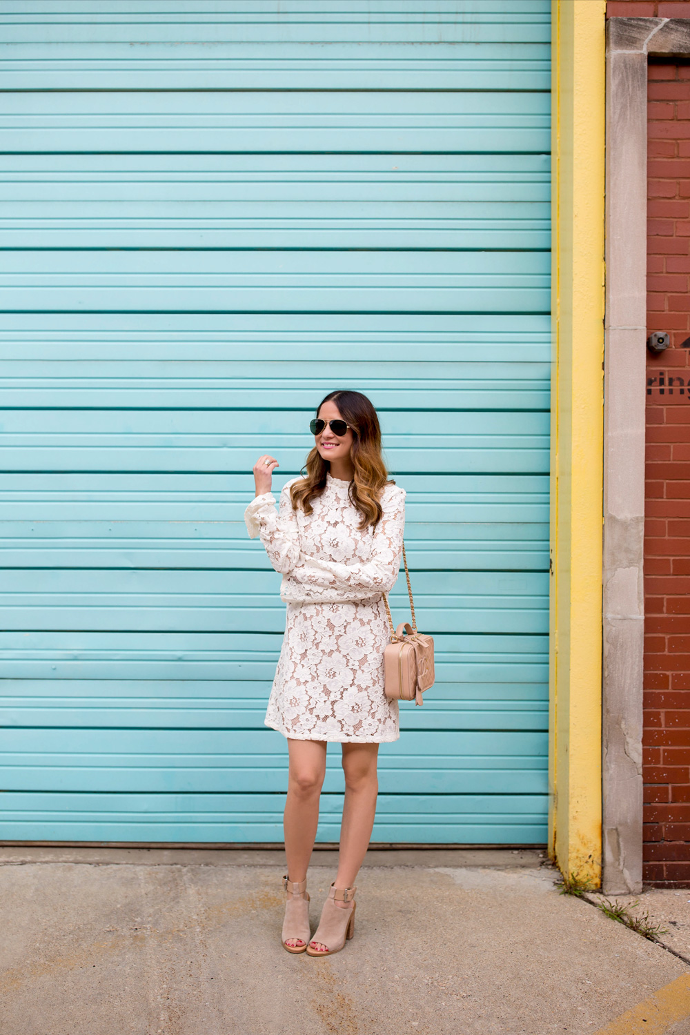 Nordstrom Ivory Lace Dress
