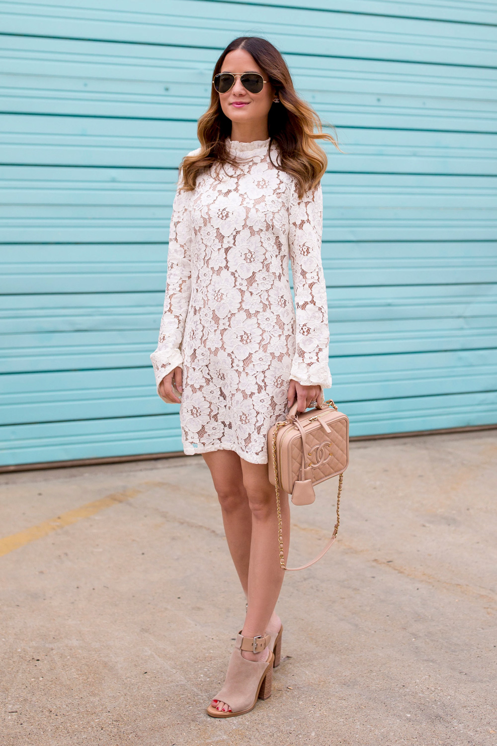Wayf Ivory Lace Dress