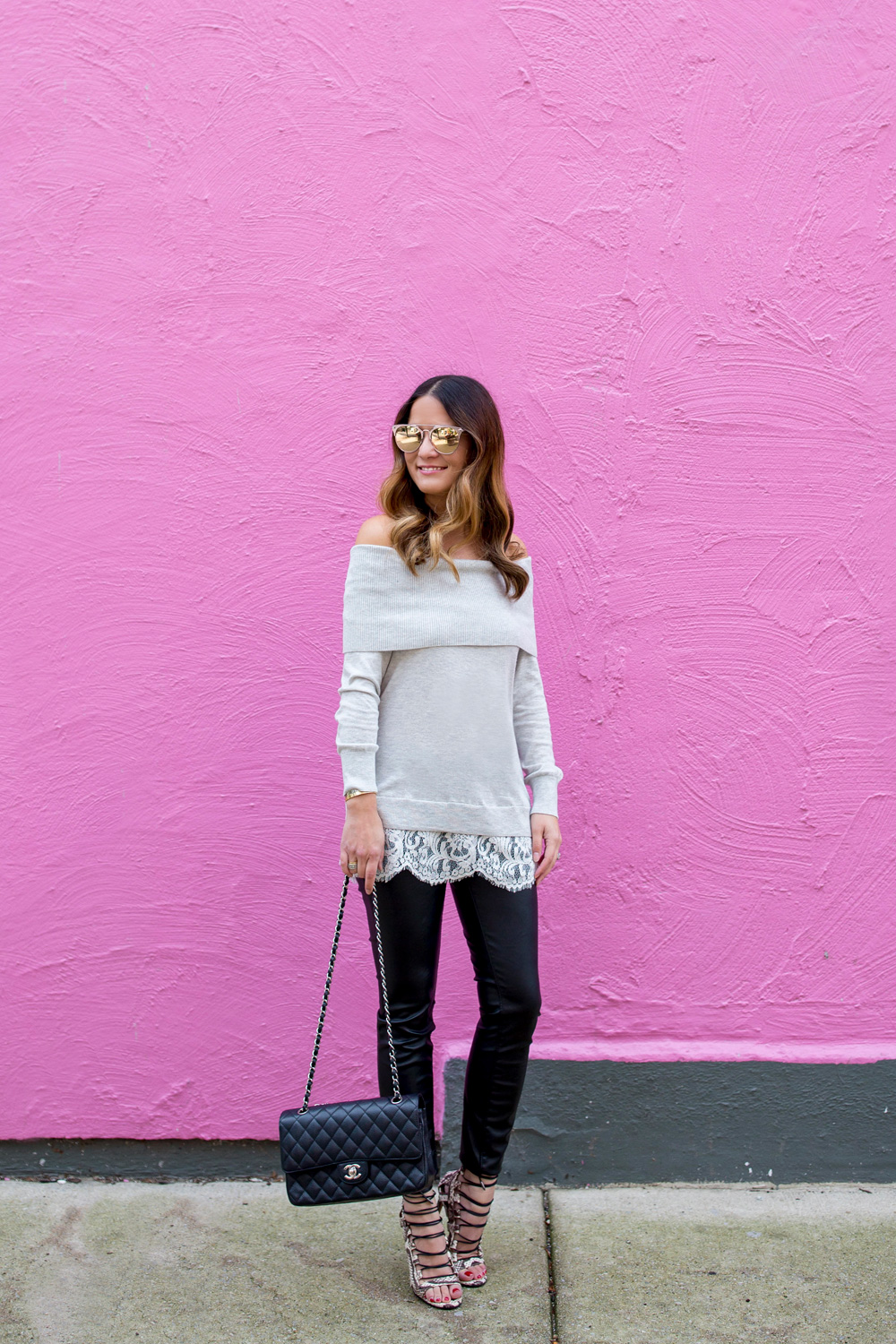 Pink Wall Chicago Blogger