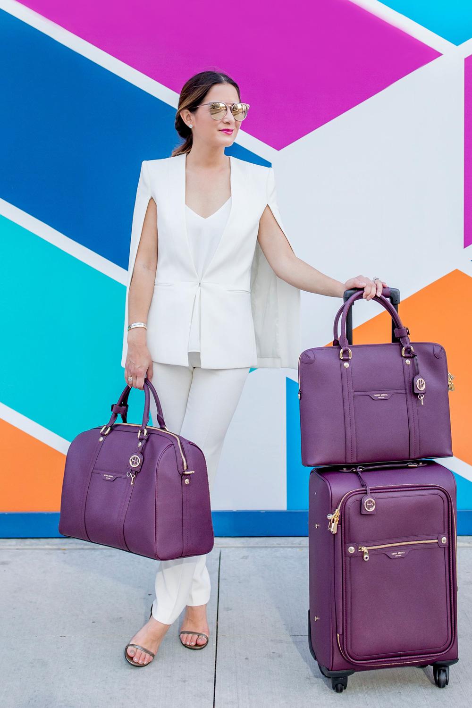 Plum Matching Luggage