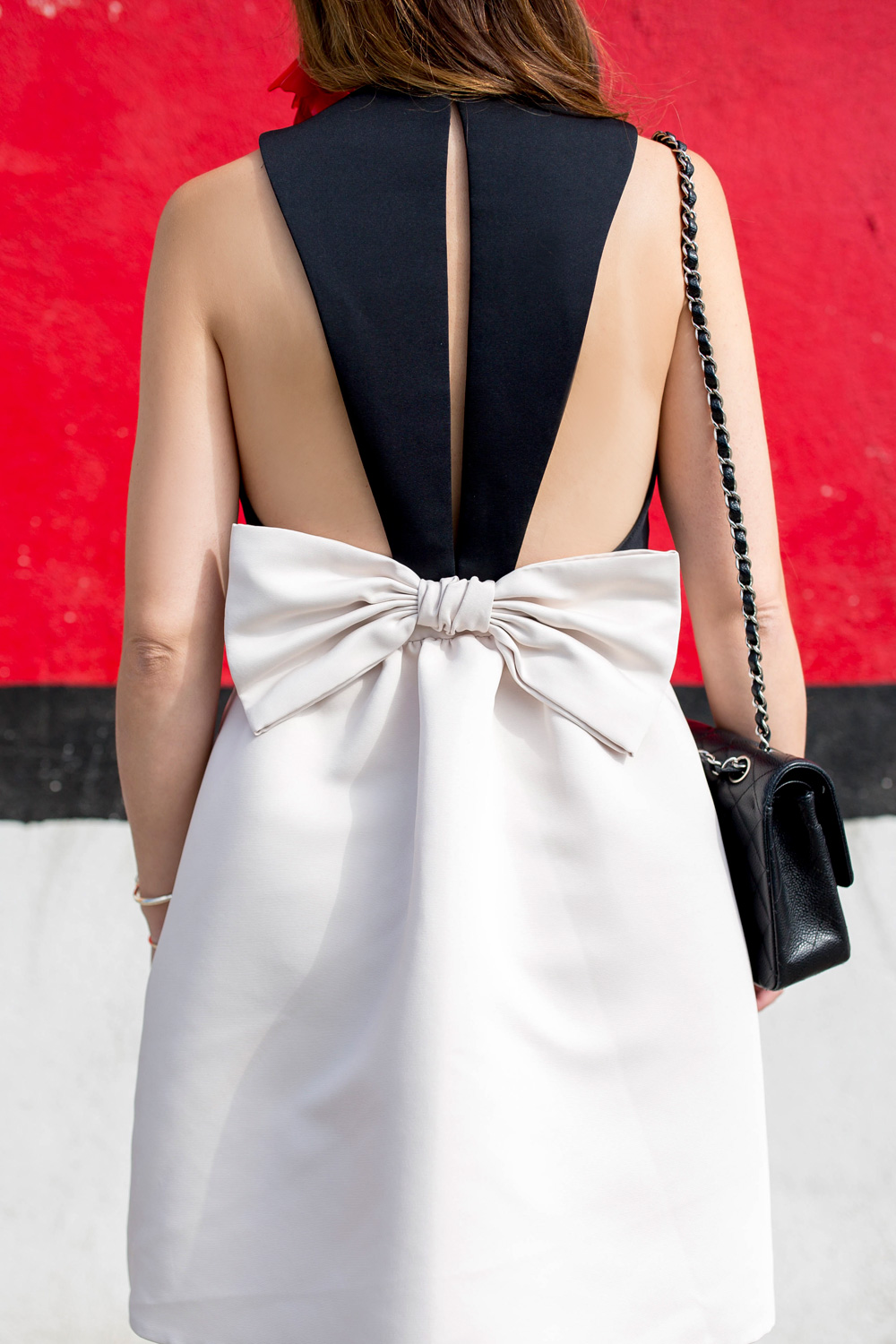 Kate Spade Black White Bow Dress