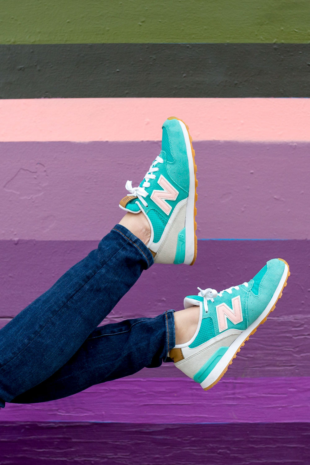 Green Pink New Balance Sneakers