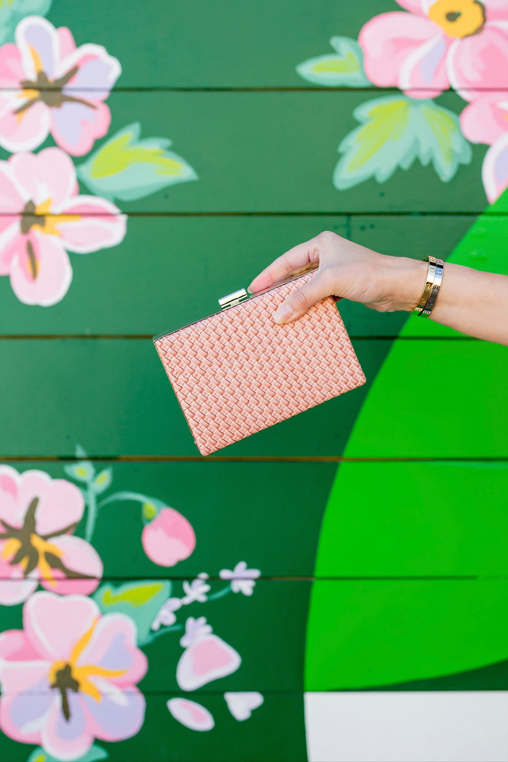 Nordstrom Pink Box Clutch