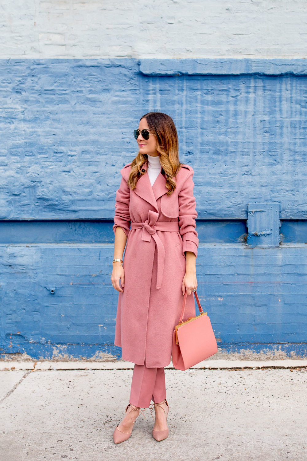 Blush Pink Theory Coat