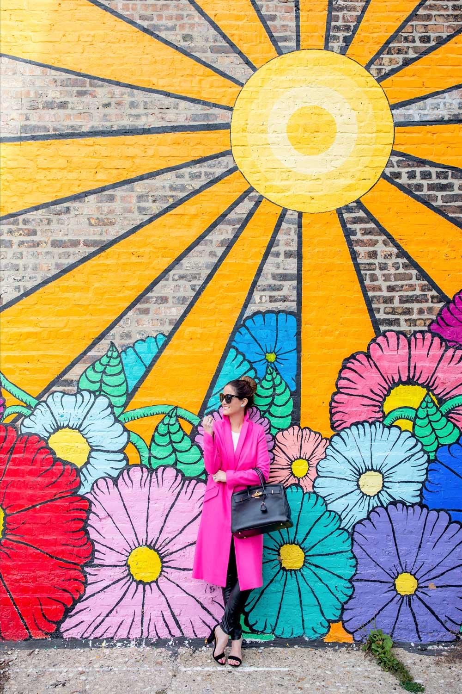 Chicago Flower Sun Mural