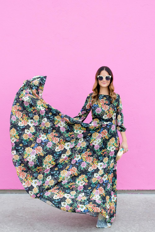 Flowing Floral Maxi Dress