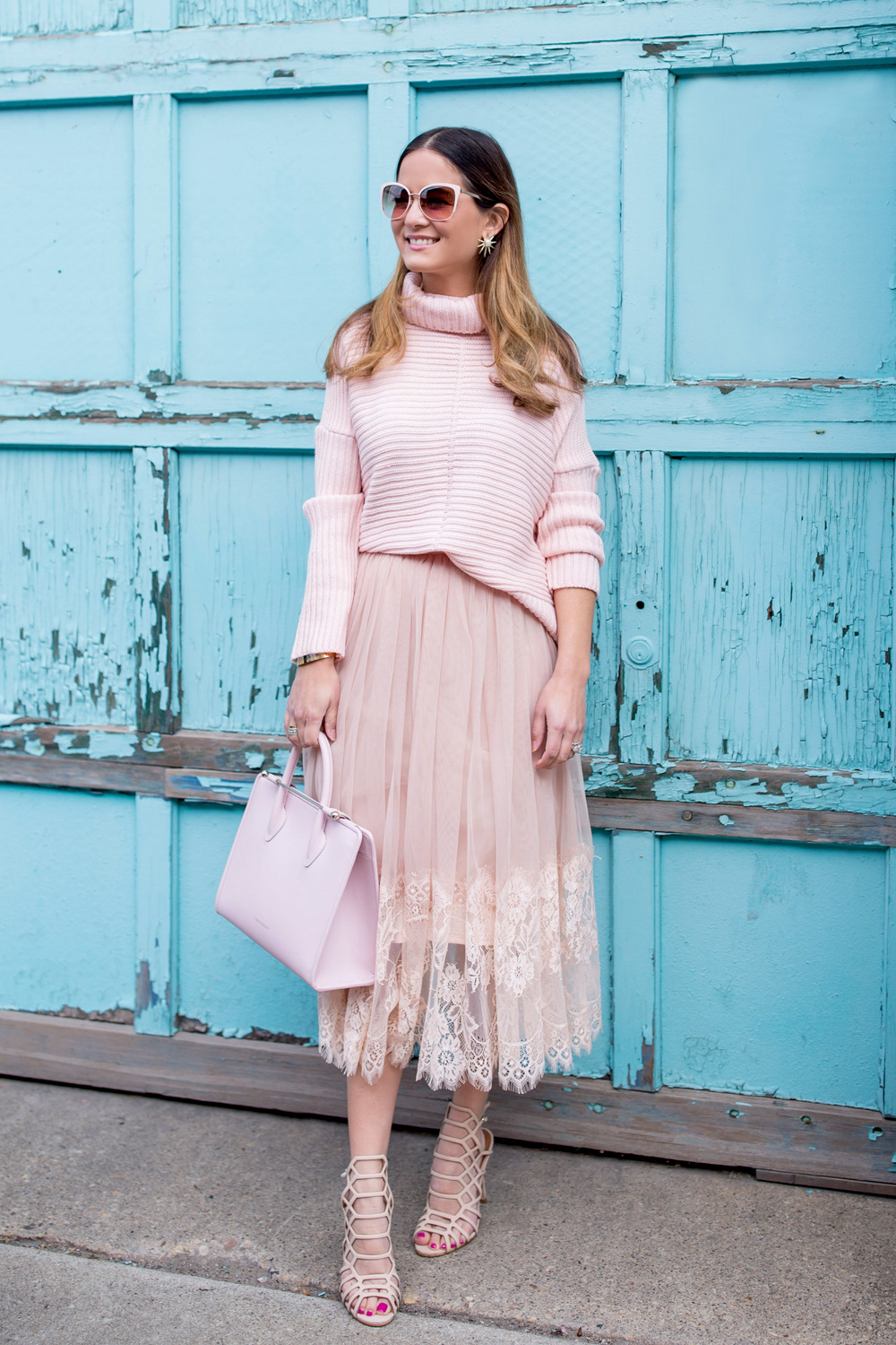ASOS Pink Tulle Lace Skirt