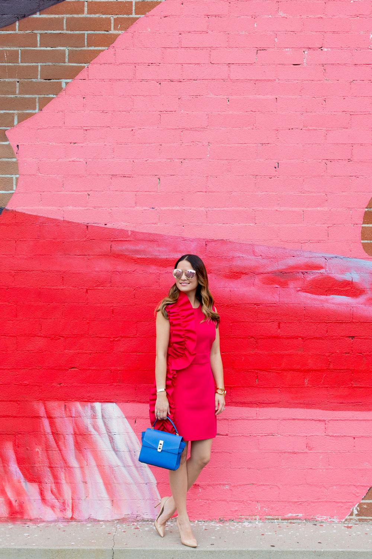 Bold Pink Ruffle Dress