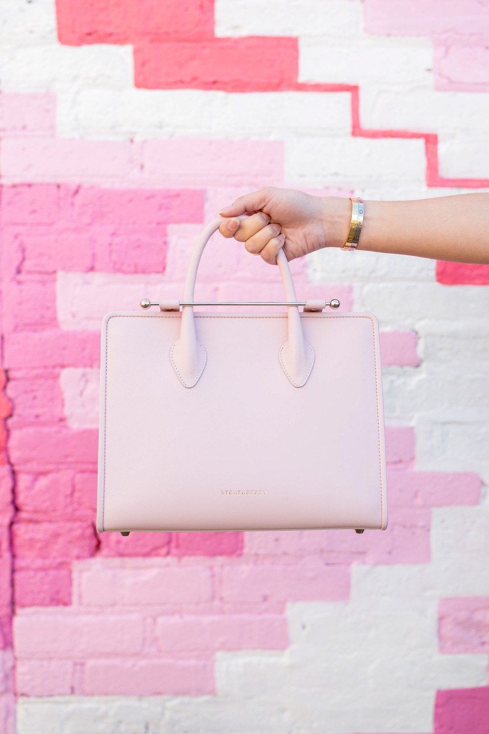 Strathberry Pink Midi Tote
