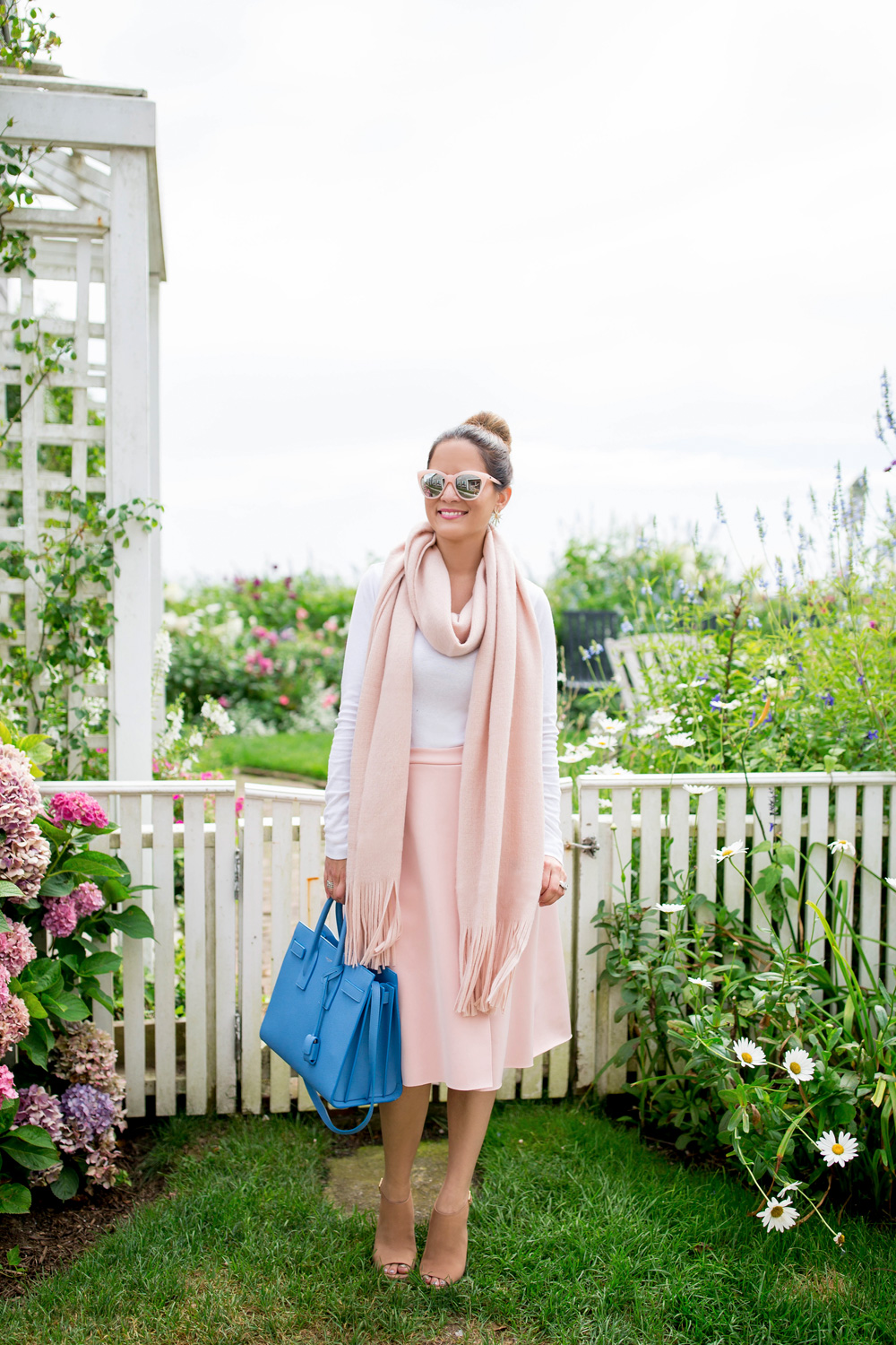 Pink Scarf Outfit