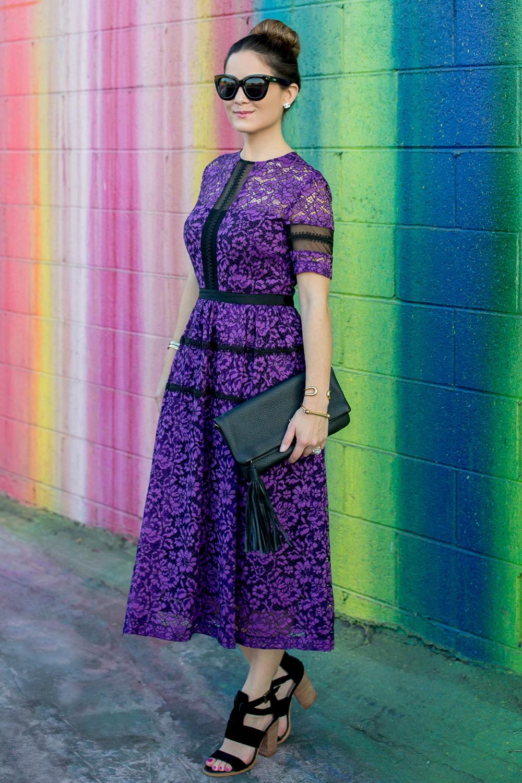 Purple Lace Donna Morgan Dress