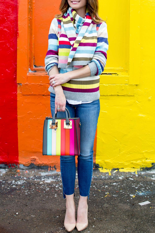Rainbow Stripe Scarf
