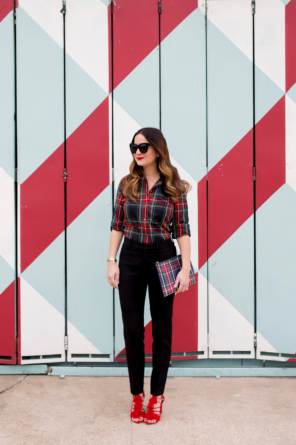 J. Crew Red Plaid Shirt