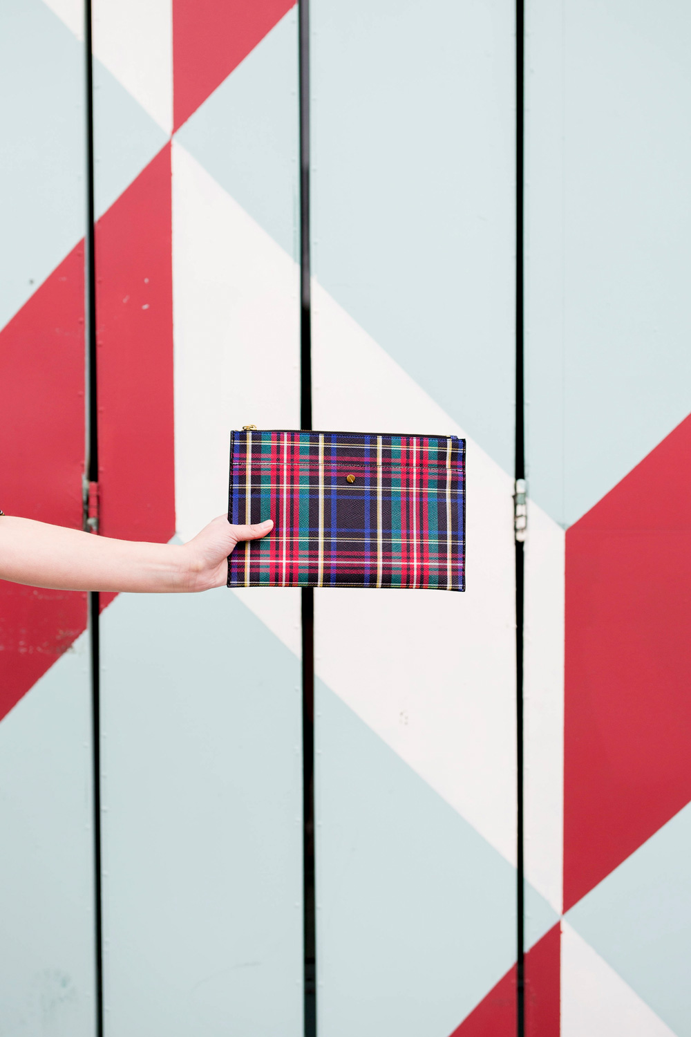 J. Crew Plaid Clutch