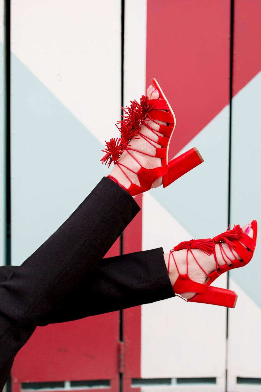 Loeffler Randall Red Luz Sandals
