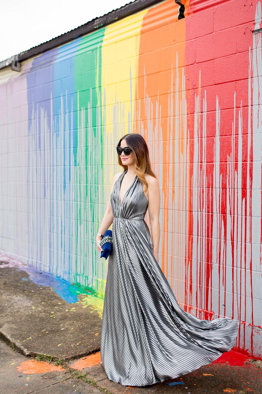 Rainbow Paint Wall Houston