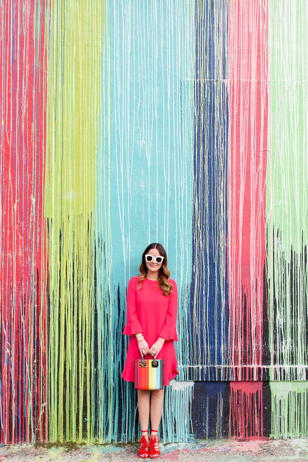 Dripping Paint Mural Wall Houston