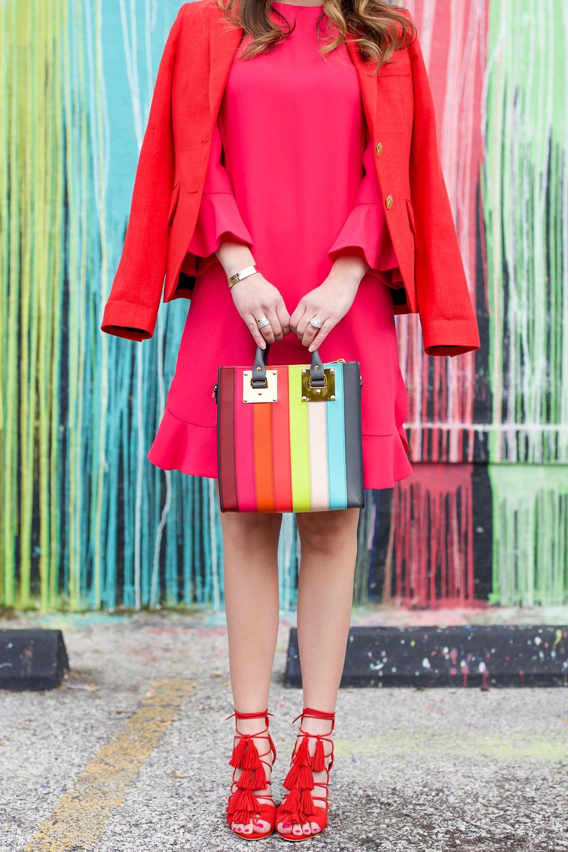Sophie Hulme Rainbow Stripe Bag