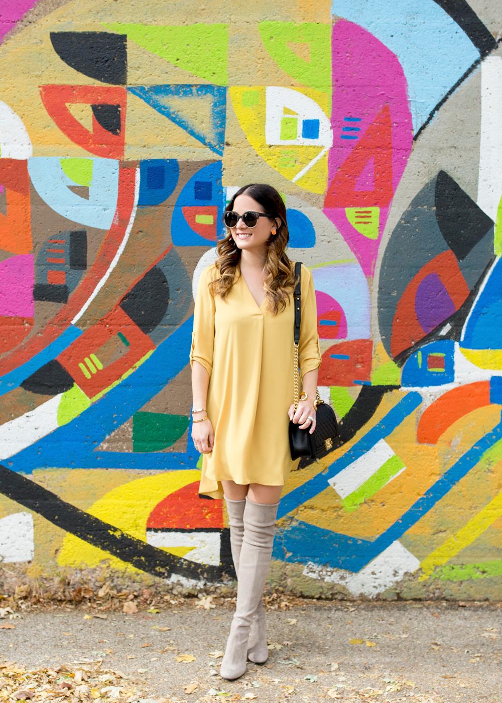 Lush Yellow Shift Dress