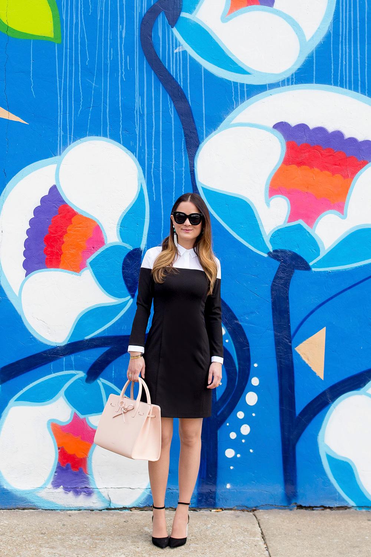 Blue Flower Mural Chicago