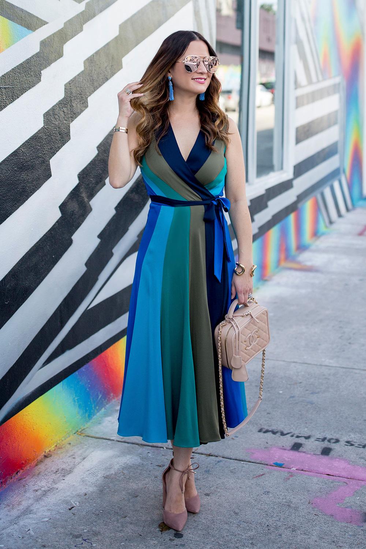 DVF Penelope Colorblock Wrap Dress