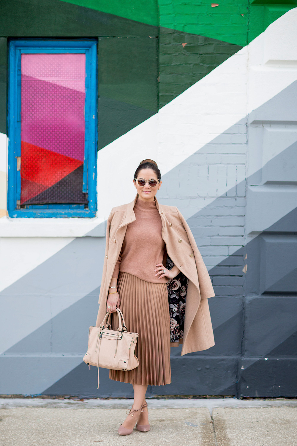 Eliza J Tan Long Coat