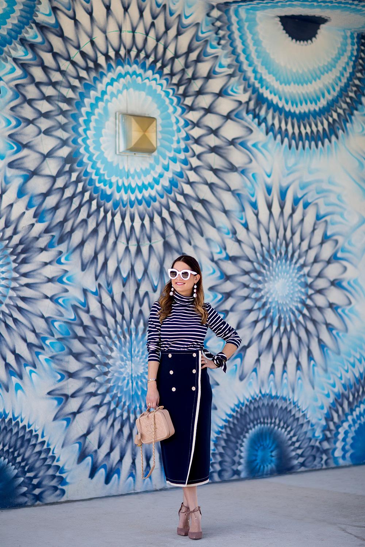 Colorful Blue Mural Miami Wynwood