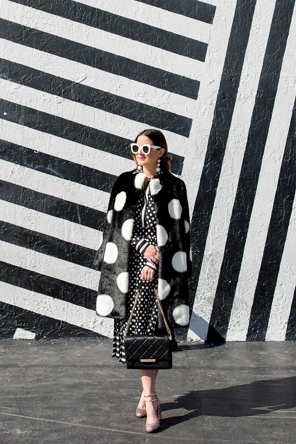 Kate Spade Black White Coat