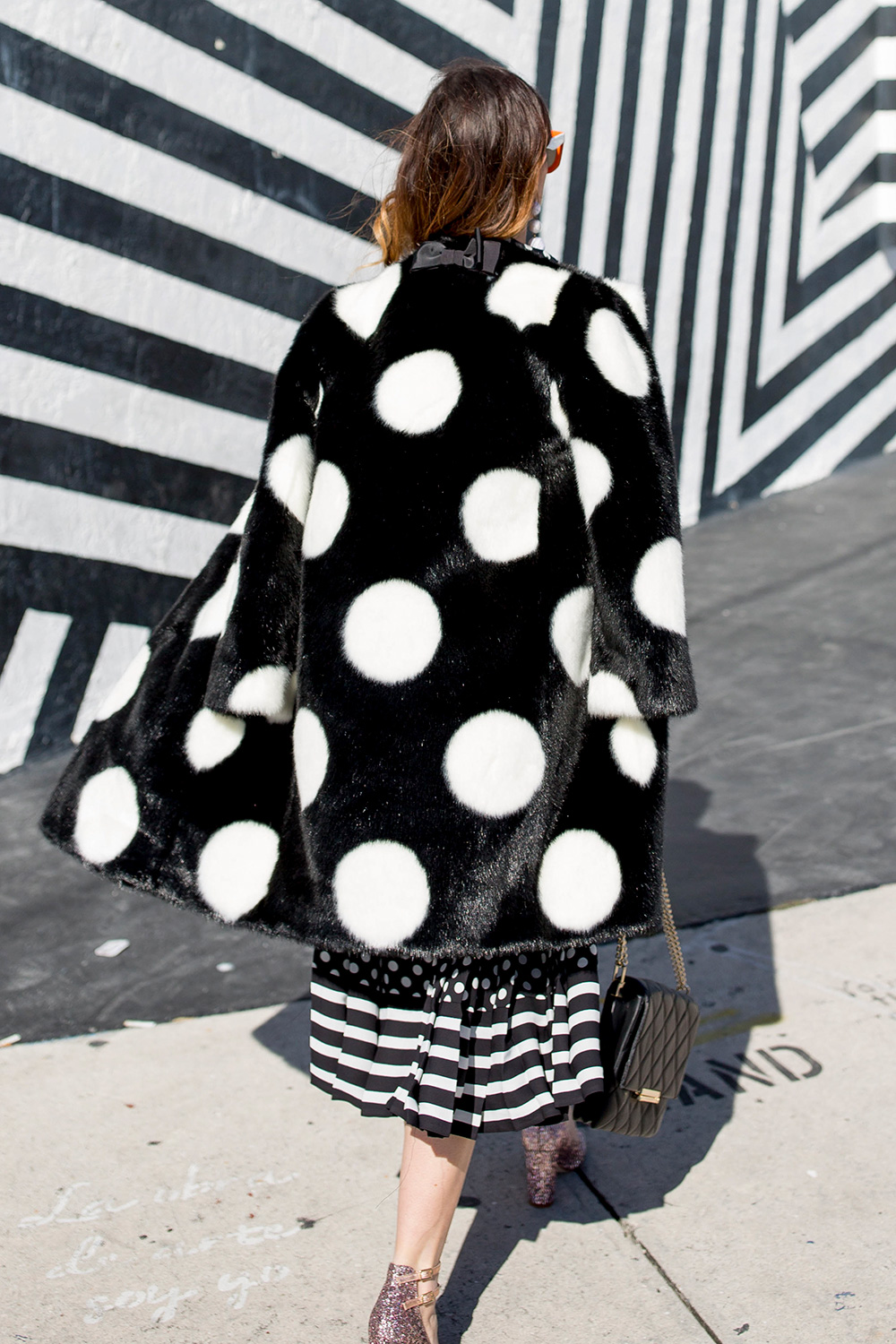 kate spade new york polka dot coat