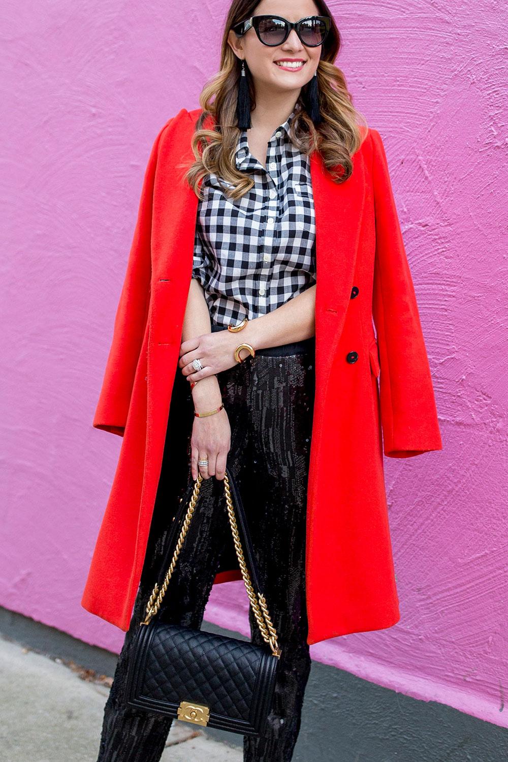 Zara Red Long Coat