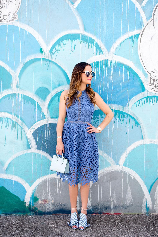 Nordstrom Rack Blue Lace Dress